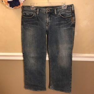 Silver Jeans Alex fit mid-rise Capris